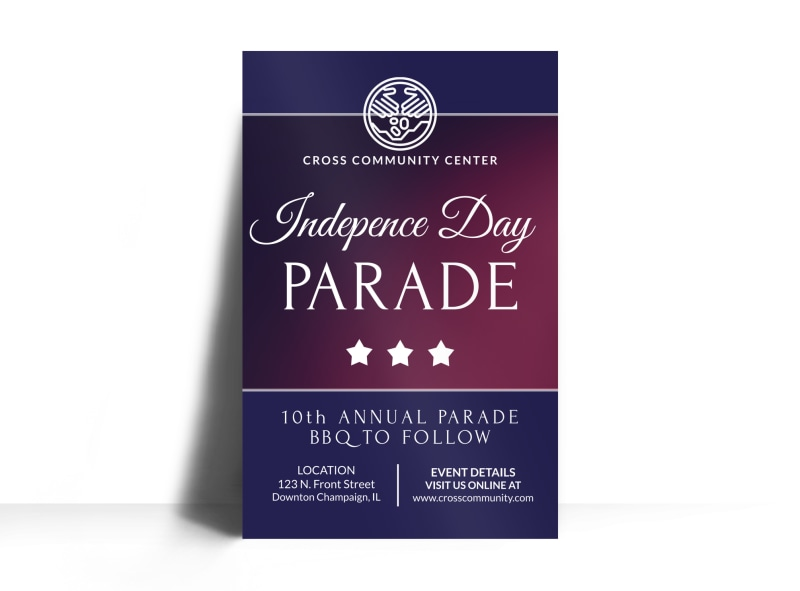 Independence Day Parade Poster Template Preview 3