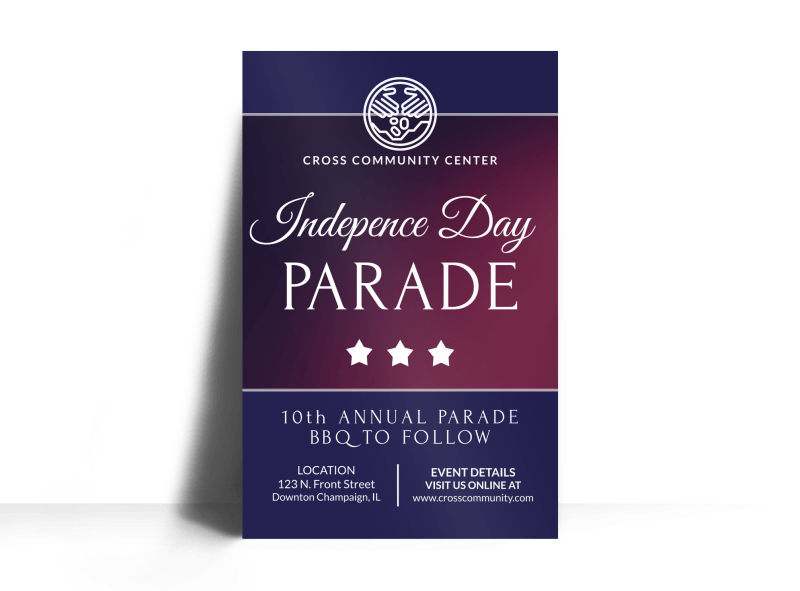 Independence Day Parade Poster Template Preview 1