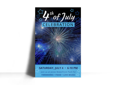 4th Of July Event Poster Template