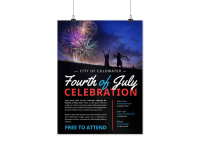 4th Of July City Celebration Poster Template