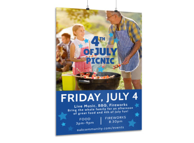4th Of July Picnic Poster Template