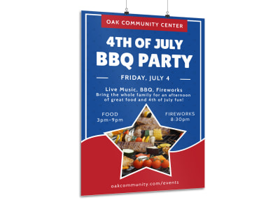 4th Of July BBQ Poster Template