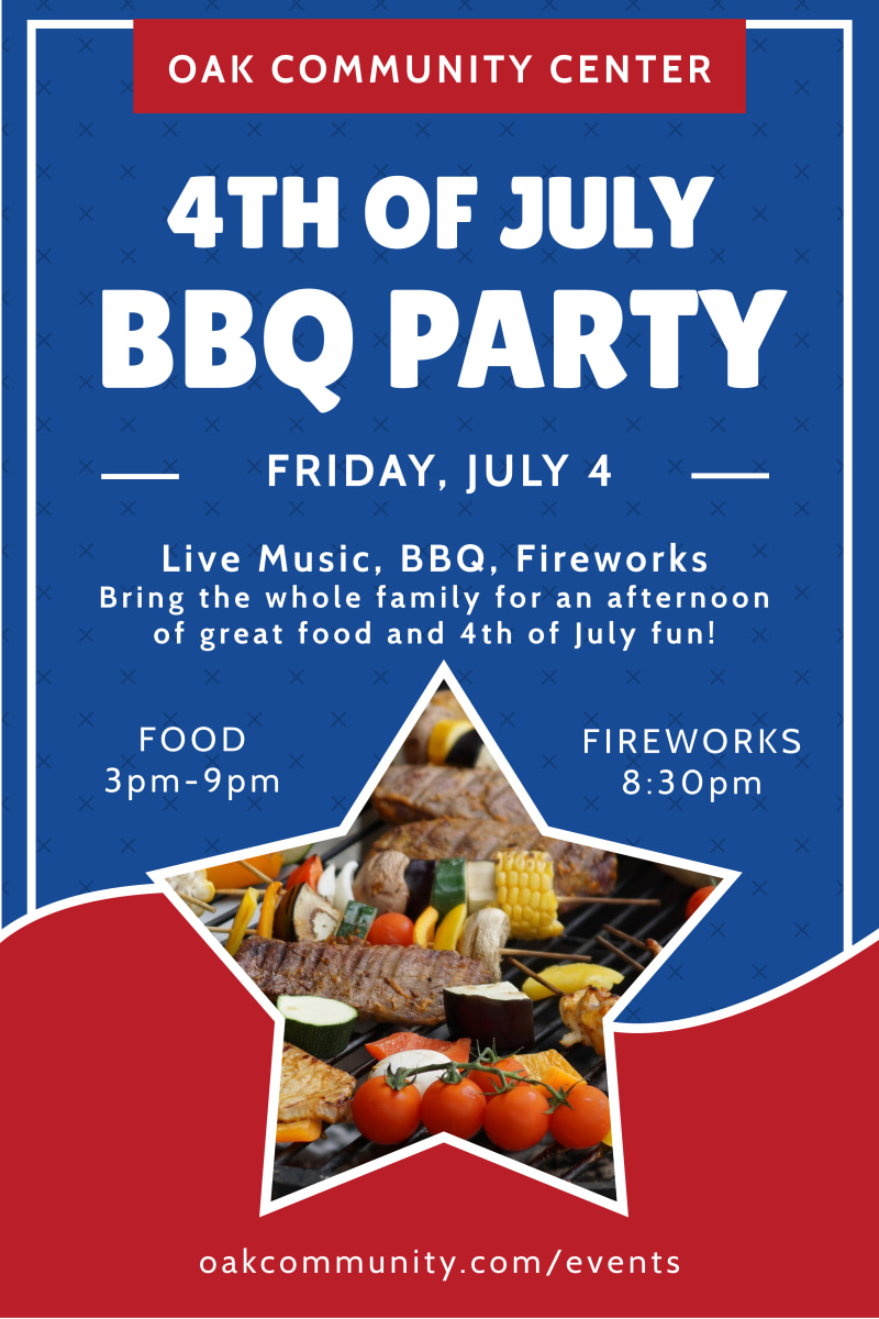 4th Of July BBQ Poster Template Preview 2