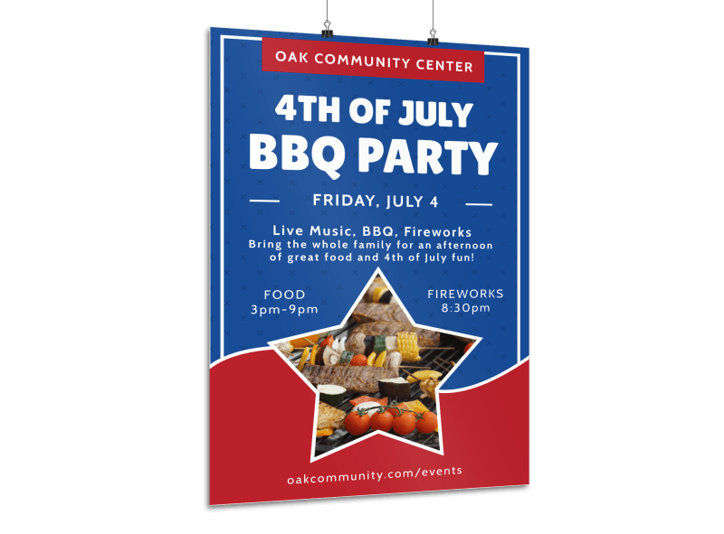 4th Of July BBQ Poster Template Preview 1