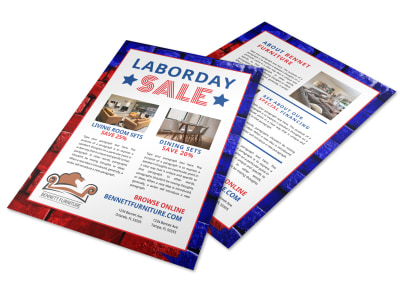 Labor Day Furniture Sale Flyer Template preview