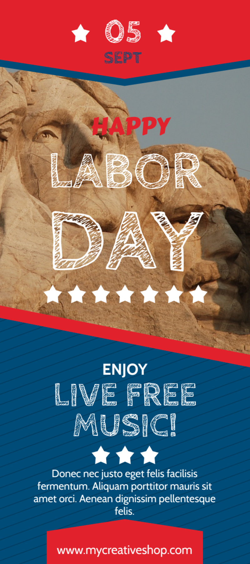 Happy Labor Day Flyer Template Preview 2