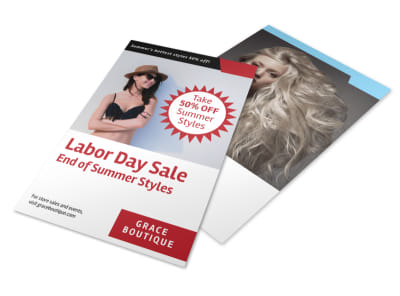 Labor Day Promo Flyer Template preview