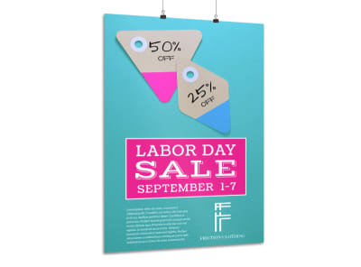 Labor Day Sale Poster Template preview