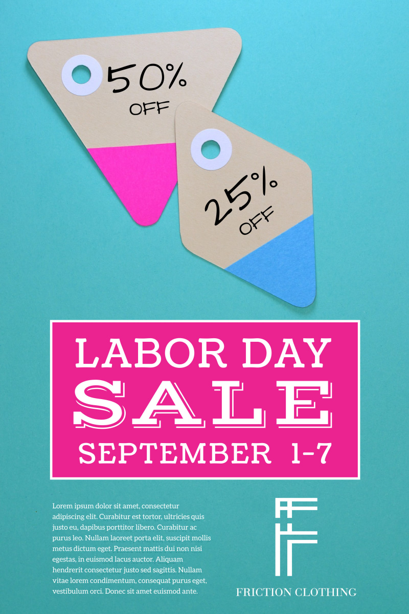Labor Day Sale Poster Template Preview 2
