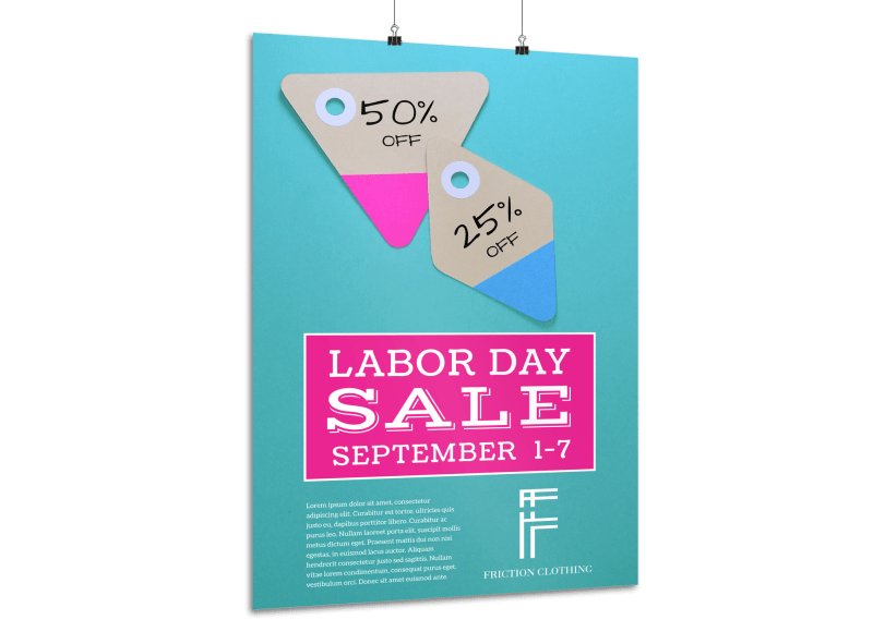 Labor Day Sale Poster Template Preview 1