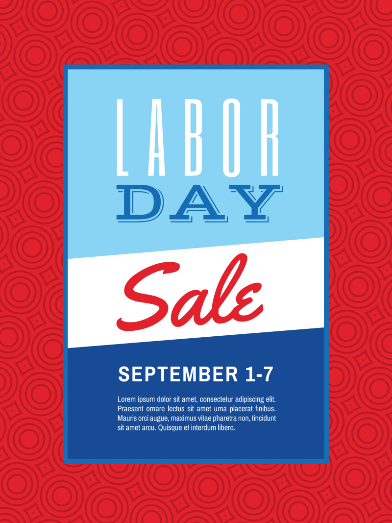 Classic Labor Day Sale Poster Template Preview 2