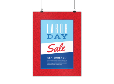 Classic Labor Day Sale Poster Template preview