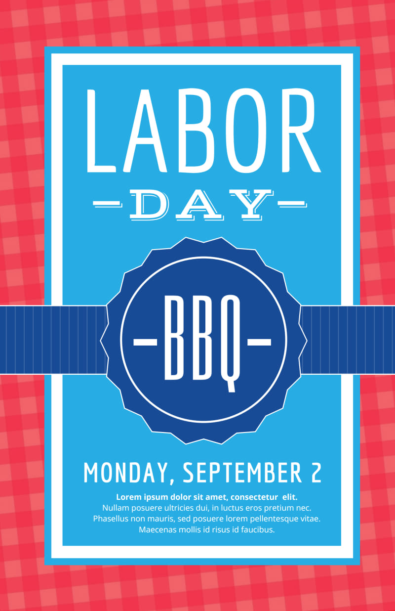 Classic Labor Day Poster Template Preview 2