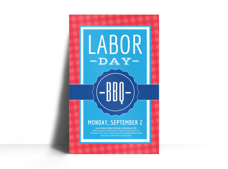 Classic Labor Day Poster Template Preview 1