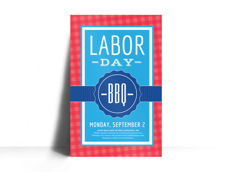 Classic Labor Day Poster Template Preview 3