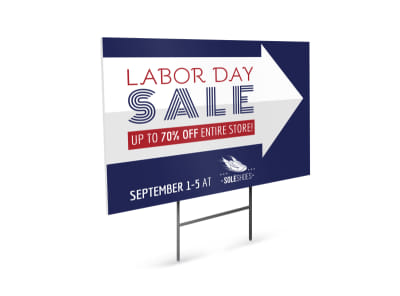Labor Day Sale Yard Sign Template preview