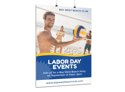 Labor Day Event Poster Template preview