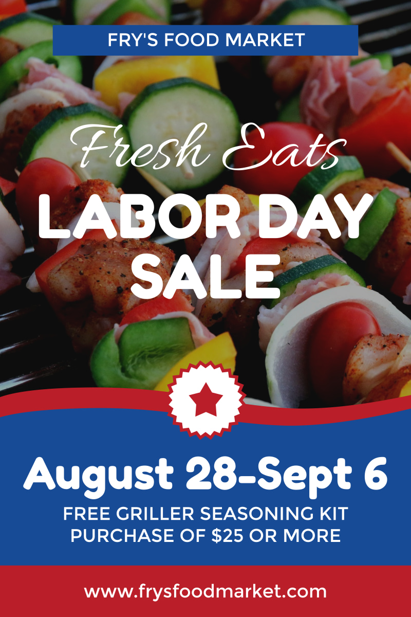 Labor Day Food Sale Poster Template Preview 2