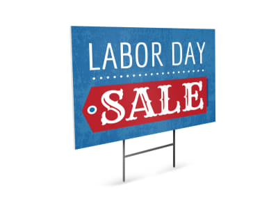 Classic Labor Day Yard Sign Template