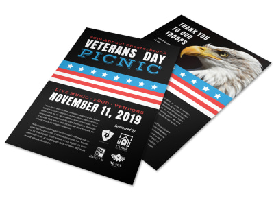 Annual Veterans Day Picnic Flyer Template preview