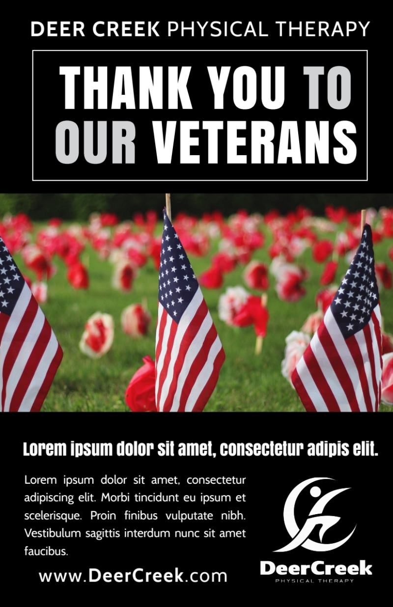 Thank You Veterans Flyer Template | MyCreativeShop