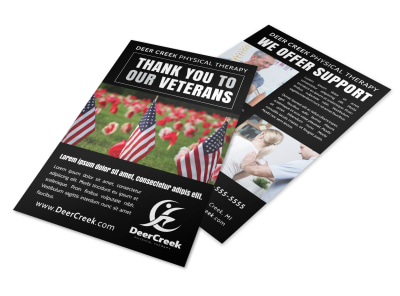 Thank You Veterans Flyer Template preview