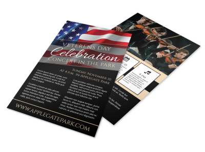 Veterans Day Celebration Concert Flyer Template preview