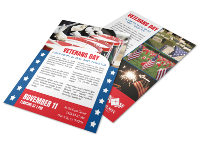 Classic Veterans Day Flyer Template preview