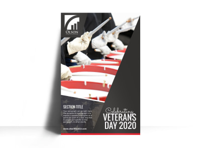 Veterans Day Celebration Poster Template preview