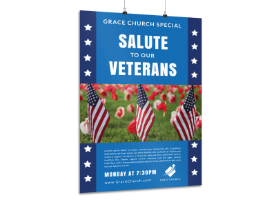 Salute To Our Veterans Poster Template preview
