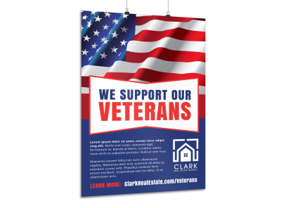 Veterans Day Support Poster Template preview