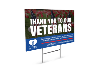 Veterans Day Yard Sign Templates Template Preview