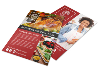 Thanksgiving Grocery Store Flyer Template preview