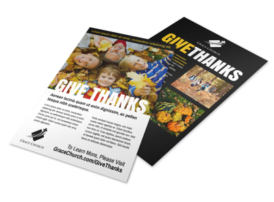 Give Thanks Flyer Template preview