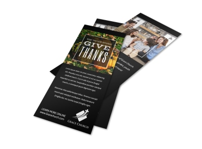 Special Thanksgiving Flyer Template preview