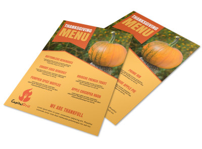 Special Thanksgiving Menu Template preview