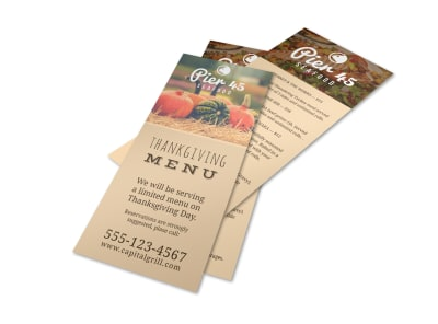 Restaurant Thanksgiving Menu Template