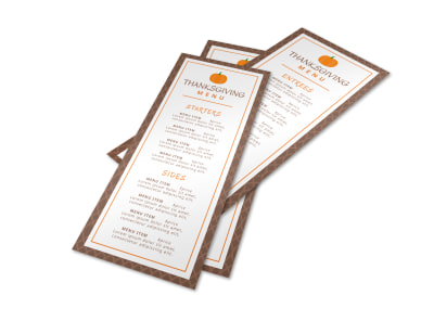 Thanksgiving Pumpkin Menu Template preview