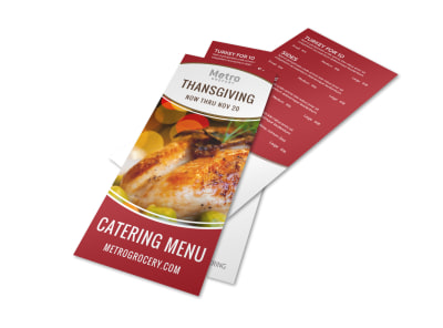 Catering Thanksgiving Menu Template preview