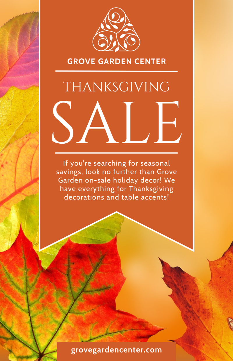 Thanksgiving Sale Poster Template Preview 2