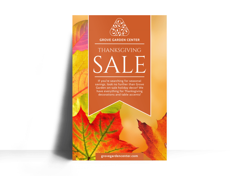Thanksgiving Sale Poster Template Preview 1