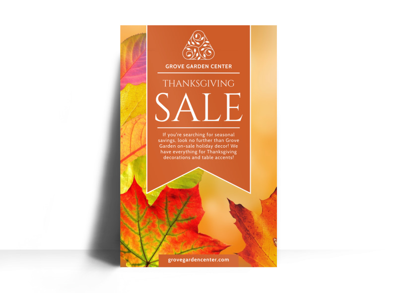 thanksgiving sale poster template mycreativeshop