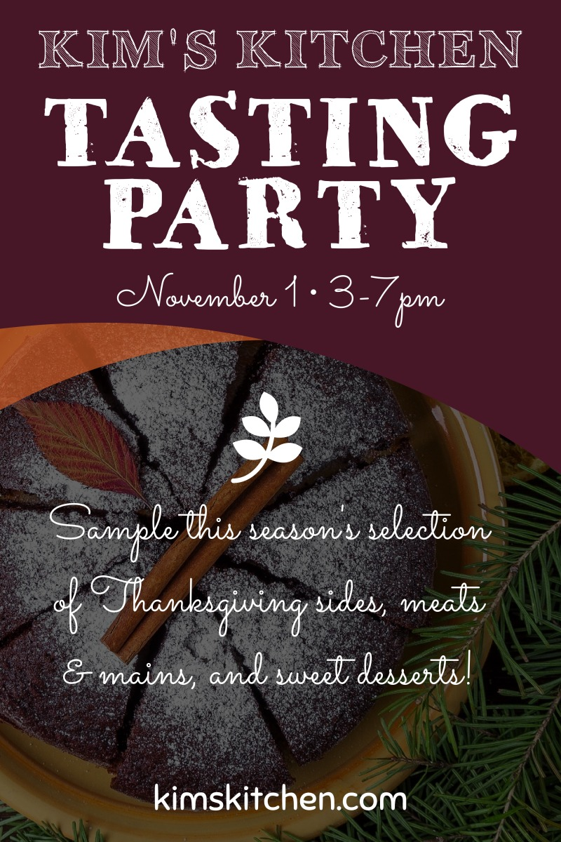 Thanksgiving Tasting Party Poster Template Preview 2