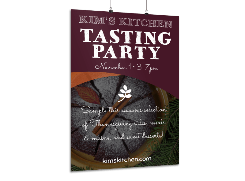 Thanksgiving Tasting Party Poster Template Preview 1