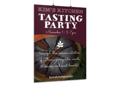Thanksgiving Tasting Party Poster Template preview
