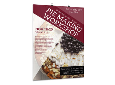 Thanksgiving Pie Workshop Poster Template preview