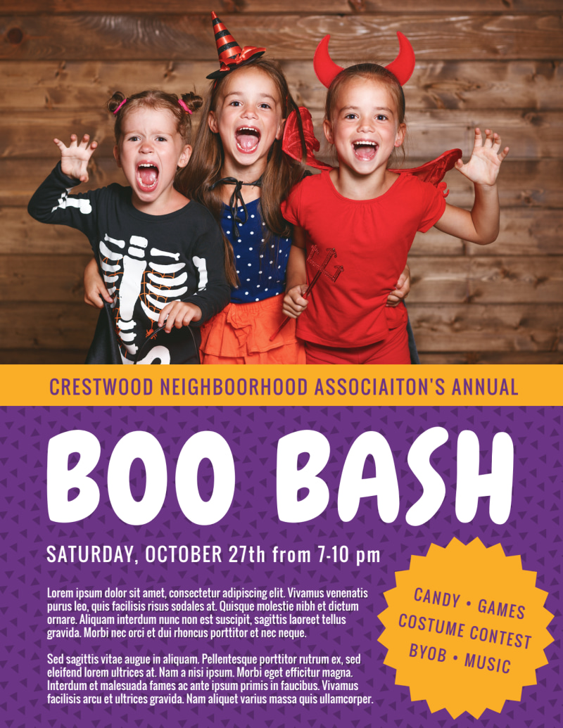 Halloween Boo Bash Flyer Template Preview 2