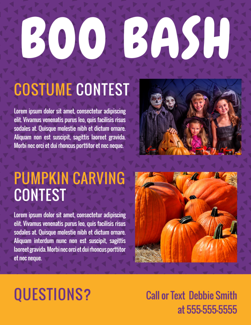 Halloween Boo Bash Flyer Template Preview 3