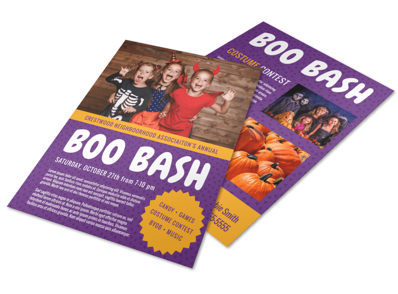 Halloween Boo Bash Flyer Template Preview 1