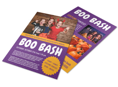 Halloween Boo Bash Flyer Template preview